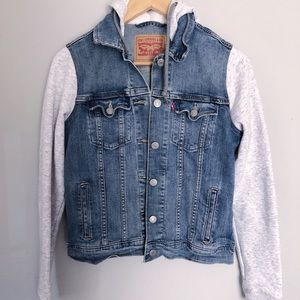 Jean Sweatshirt Jacket